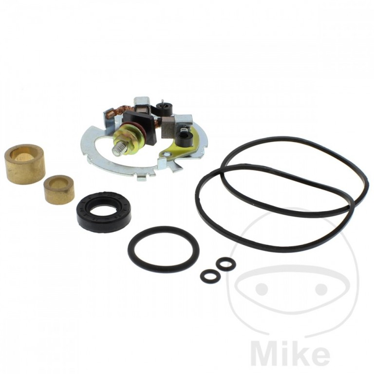 Starter motor repair kit with holder